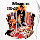 James Bond T-shirt 007 Live Let Die retro vintage 70's film graphic cotton tee $25.99 USD