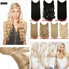 UK Secret Headband Elastic Wire in Piece Hair Extensions Real Feel Human Party