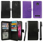 For Motorola Moto Z2 Force 2017 Flip Card Holder Wallet Case Wrist Strap + Pen