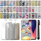 "For LG V30 V30+ Plus 6"" H930 VS996 Sparkling Silver Silicone Case Cover + Pen"