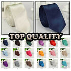Lots of Quality New fashion polyester Mens Plain Necktie neck ties skinny ties
