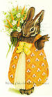 Easter Rabbit & Bouquet of Carrots ~ Vintage ~ Cross Stitch Pattern