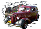 1936 Red Chevy Sedan b Custom Hot Rod Garage T-Shirt 36 Muscle Car Tees