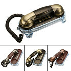Vintage Retro Antique Wall Mount Phone Wired Cored Landline Home Desk Decoration