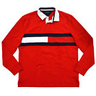 Tommy Hilfiger Mens Rugby Shirt Long Sleeve Graphic Big Flag Logo Casual New Nwt