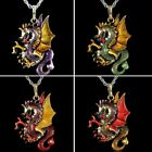 Vintage Cool Animal Dragon Wing Long Chain Pendant Necklace Jewelry Family Gift