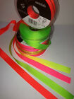 Berisfords NEON FLUORESCENT - Grosgrain Ribbon - 4 Shades Hi-Viz - 6mm to 40mm