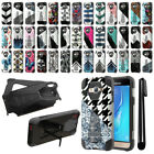 For Samsung Galaxy J3 J310 J320 Hybrid Dual Layer Kickstand Case Cover + Pen