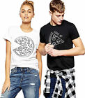 Pizza Slice Matching Couple Funny Love His Her Casual T-Shirt Short Sleeve Tops
