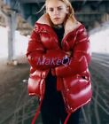 Bright Down Jacket Coat Fashion Womens Winter Thicken Parka Warm Outwear Clothes