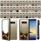 "For Samsung Galaxy Note 8 N950 6.3"" Cat Hard TPU Black Bumper Case Cover + Pen"