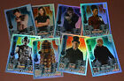 Topps Doctor Who ALIEN ATTAX 50th TCG - DEFECT/damaged Rainbow Foil cards (1-8)
