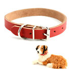 Dog puppy Collar New Real leather Small Medium Large Pet system test