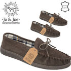 MENS JO&JOE LEATHER SLIP ON LOAFERS CASUAL WALKING SHOES FLAT UK 7 8 9 10 11 12