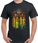 Banksy Stained Glass Window - Mens T-Shirt