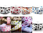 "Polka Dots 1.5"" Printed Grosgrain Ribbon 25 yards for Crafts decor Choose Colors"