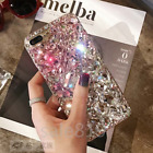 Handmade Bling Luxury Crystal Diamond Pearl Back PC Case Cover For Smart Phones