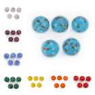 5/10Pcs Round Czech Crystal Glass Gold Foil Dot Loose Spacer Bead Findings 14mm