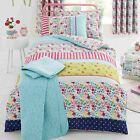 Joy Floral Kids Duvet Cover Modern Funky Patchwork Childrens Bedding Single Size