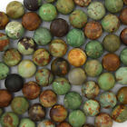 "Natural Matte Green Opal Round Beads Gemstone 15"" Strand 4mm 6mm 8mm 10mm 12mm"