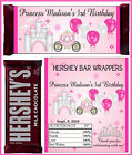 PRINCESS BIRTHDAY PARTY FAVORS CANDY BAR HERSHEY BAR WRAPPERS