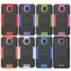 For Motorola Moto C/C Plus Case Cover CAPASAE TPU PC Kickstand Case Back Cover