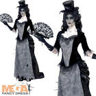 Victorian Widow Ghost Ladies Fancy Dress Halloween Undead Womens Adults Costume