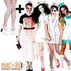 Undead Zombie Nurse + Tights Ladies Halloween Fancy Dress Womens Adults Costumes