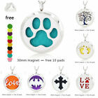 handprint pendant - HOT Stainless Steel Pendant Necklace Aromatherapy Essential Oil Diffuser+10 pads