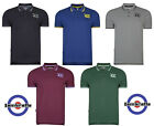 Lambretta Polo Shirts Twin Tipped Collar 47 Logo Mens T-Shirt Cotton UK M-3XL