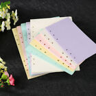 40 Sheets A5/A6 Filler Papers Loose-leaf Notebook 6 Holes Sc