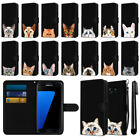 For Samsung Galaxy S7 Edge G935 Cat Slim Wallet Pouch Case Cover + Pen