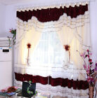 Luxury classical lace curtain wedding home curtain set princess style blackout