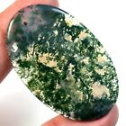 Natural Moss Agate FRONT DRILLED Pendant Bead Collection