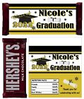 BLACK AND GOLD GRADUATION FAVORS CANDY BAR WRAPPERS HERSHEY
