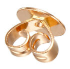18K Solid Rose Gold Earrings Setting Smooth Stopper for 5,6,8mm Post
