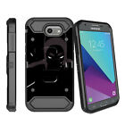 For Samsung Galaxy J3 Emerge | Luna Pro (2017) Holster Clip Case with Kickstand