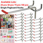 25/50/75/100x 50mm Pegboard Hooks Assortment Set Storage Store Organizing Hanger