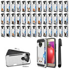 For Motorola Moto E4 XT1767 (USA) Cat Design Brushed Hybrid Case Cover + Pen