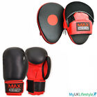 Boxing Focus Pads and Gloves Hook & Jab Training Mitts Curved Punch Bag MMA Pad