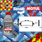 2x BENDIX 341-MCR & RBF600 BRAKE FLUID CARBON PADS KIT FITS MOTORCYCLES LISTED