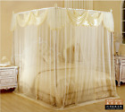 Upscale mosquito net bed canopy curtain valance stainless steel frame queen king