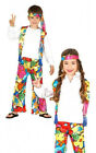 Kids Hippy Costume Boys Girls Hippie Fancy Dress 60s Outfit Book Week Age 4-12