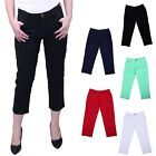 Women's Capri Jeggings Cropped Colorful Denim Jean Stretchy Pants