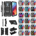 For LG G6 H870 (2017) Shockproof Dual Layer Clip Kickstand Case - Unique Designs