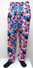 NEON PINK BLUE BLACK FLORAL MC Hammer Pants Muscle Baggy Textured beach NEW