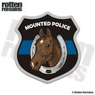 Mounted Police Patrol Chestnut Horse Decal Thin Blue Line Gloss Sticker HGV