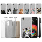 For LG X Power LS755 US610 K450 Cat Slim Sparkling Silver TPU Case Cover + Pen