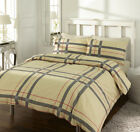 Check Design Printed Duvet Cover Bedding Set win Single, Double and King