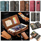 Genuine Removable Magnetic Leather Zipper Wallet Flip Stand Card Slot Cover Case $12.99 USD on eBay